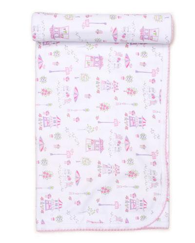 Parisian Promenade Printed Baby Blanket