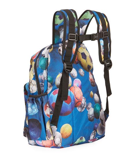 Molo Kid's Soccer Ball Print Backpack