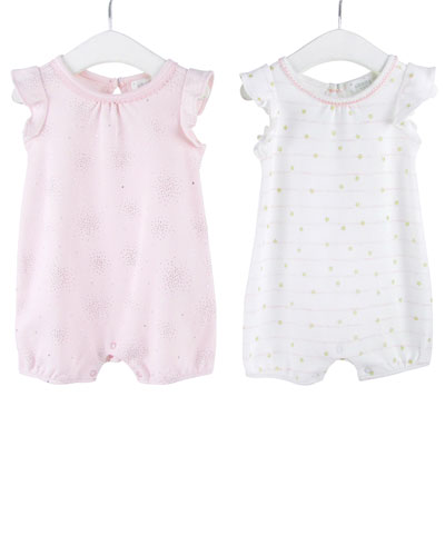 Girls' Magic Sparkle Ruffle-Sleeve Romper Set  0-12 Months