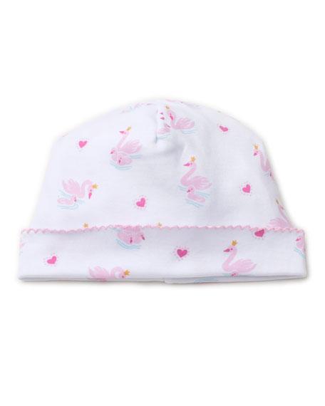 Kissy Kissy Sparkling Swans Printed Pima Baby Hat