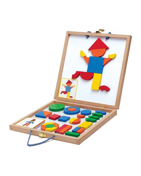 Djeco Wooden Magnetic Geoform Set