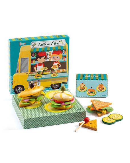 Djeco Emile & Olive Sandwich Shop Role Play Set