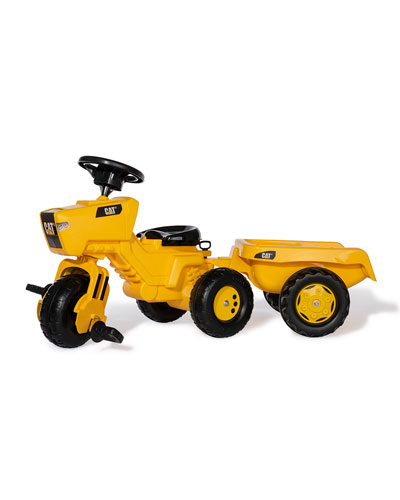 CAT 3-Wheel Tricycle Tractor with Trailer