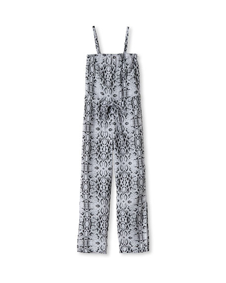 Stella Cove Snake-Print Jumpsuit Coverup, Size 2-14