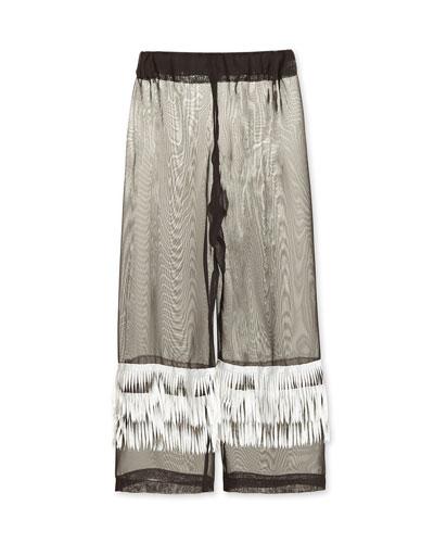 Chiffon Fringe Coverup Pants  Size 2-14