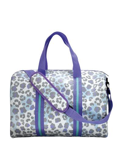 Snow Leopard Print Duffle Bag