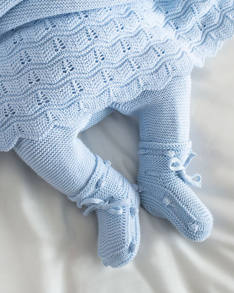 Pili Carrera Knitted Booties, Baby