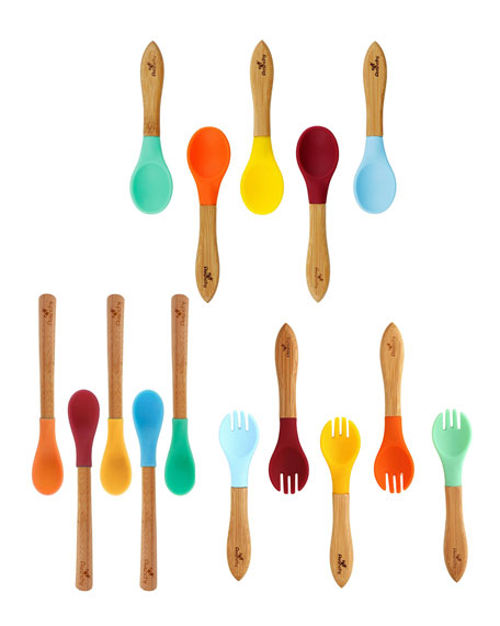 Avanchy Baby's Rainbow Mega Bamboo Spoon Gift Set