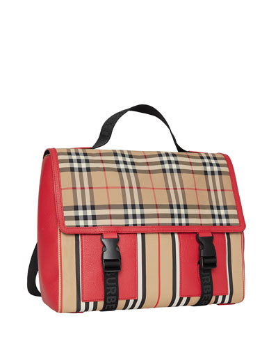 Kid's Check & Icon Stripe Backpack