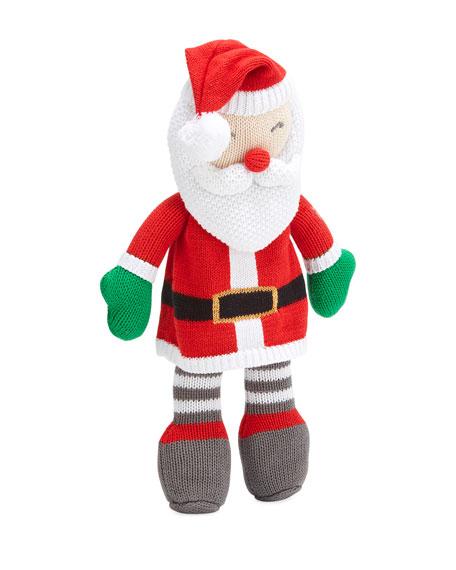 "Zubels Knit Santa Plush Doll, 14"""