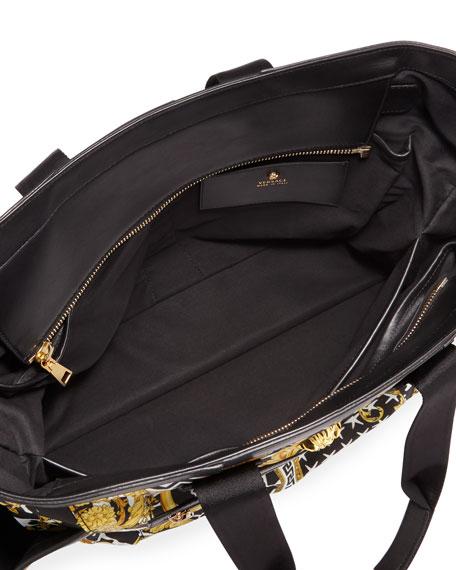 Versace Barocco Print Large Diaper Bag