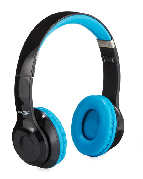 Image 1 of 2: Wireless Express Kids' Stereo Bluetooth On-Ear Headphones with Mic