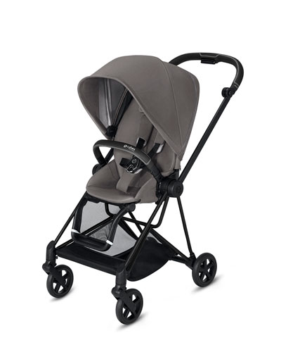 Mios One Box Stroller with All-Black Frame  Manhattan Gray