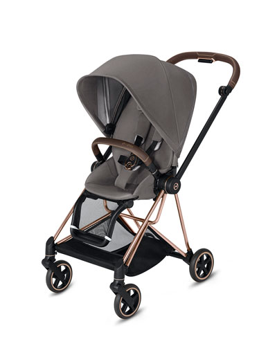 Mios One Box Stroller with Rose/Brown Frame  Manhattan Gray