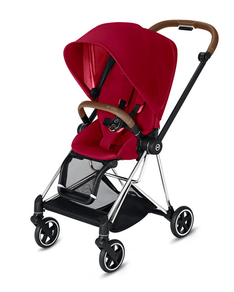 Cybex Mios One Box Stroller with Chrome/Brown Frame, True Red