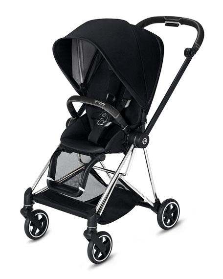 Cybex Mios One Box Stroller with Black/Chrome Frame, Premium Black