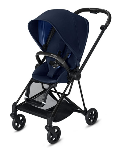Mios One Box Stroller with All-Black Frame  Indigo