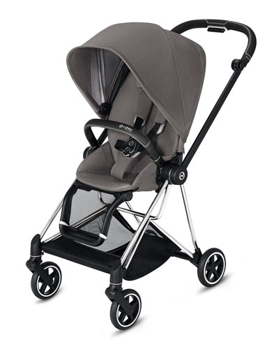 Mios One Box Stroller with Chrome/Black Frame  Manhattan Gray