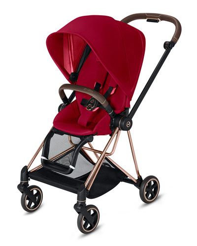 Mios One Box Stroller with Rose/Brown Frame  True Red