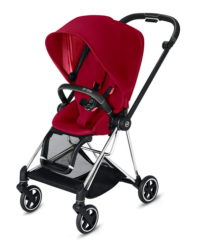 Mios One Box Stroller with Chrome/Black Frame  True Red