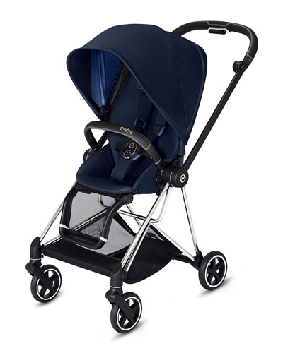 Mios One Box Stroller with Chrome/Black Frame  Indigo