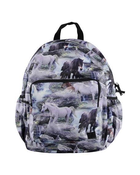 Molo Backpacks KID'S HORSE PRINT BACKPACK