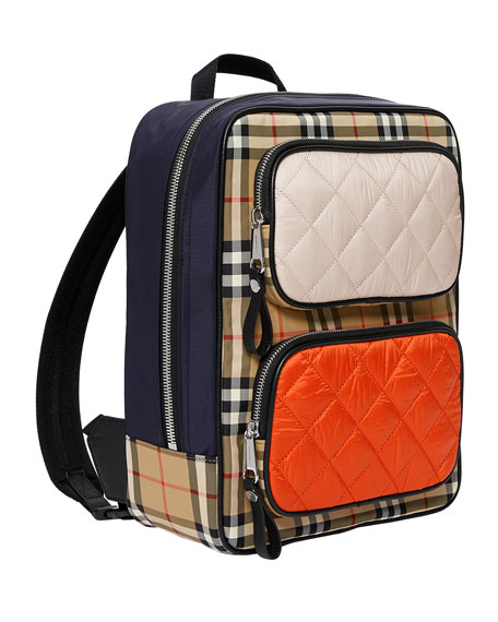Burberry Girl's Remi Check Contrast Trim Backpack