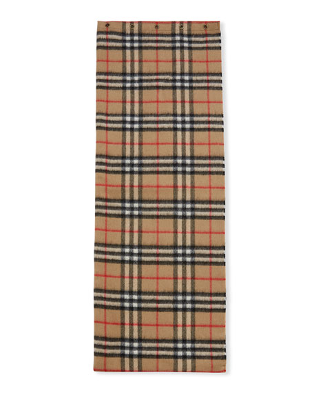 Image 1 of 2: Burberry Kid's Vintage Check Cashmere Snood Scarf