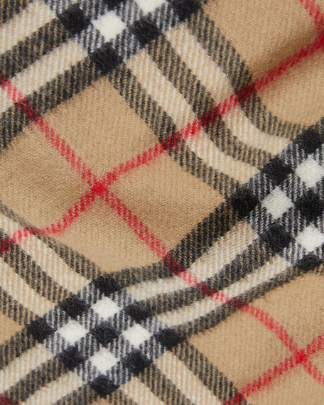 Image 2 of 3: Burberry Kid's Vintage Check Cashmere Scarf