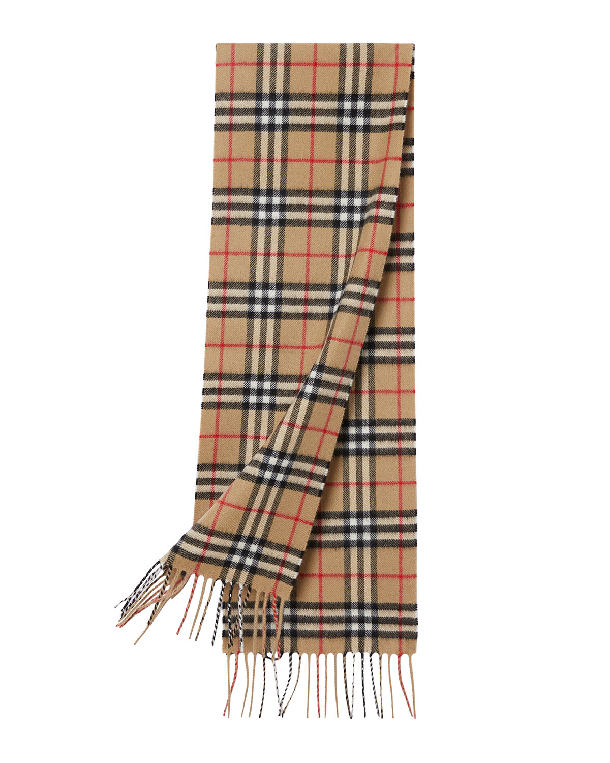 Kid's Vintage Check Cashmere Scarf by Burberry