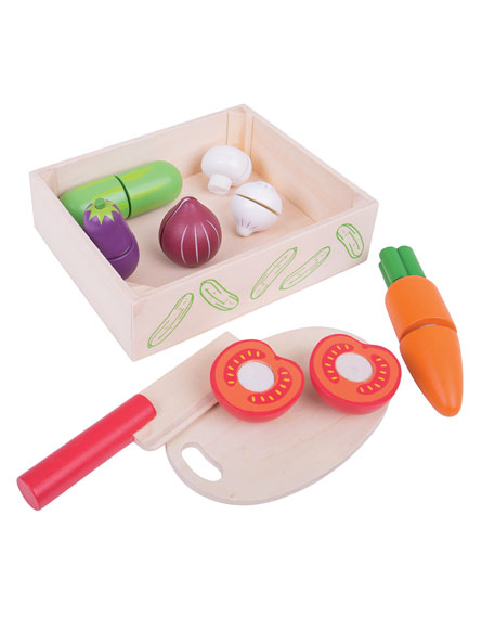 Bigjigs Toys Crate of Vegetables with Cutting Board