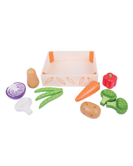 Bigjigs Toys Vegetables in Crate Playset