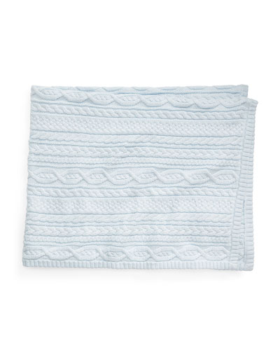 Cotton Knit Baby Blanket