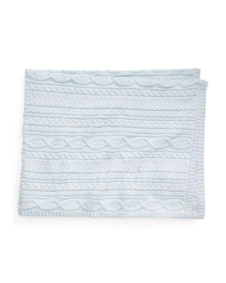 Ralph Lauren Childrenswear Cotton Knit Baby Blanket
