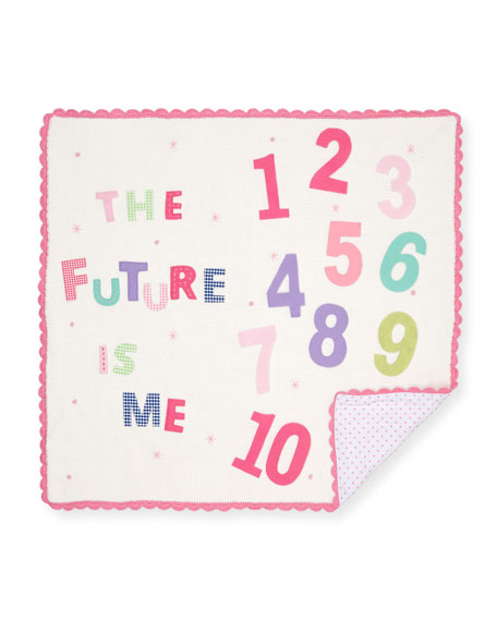 Art Walk The Future is Me Month Baby Blanket