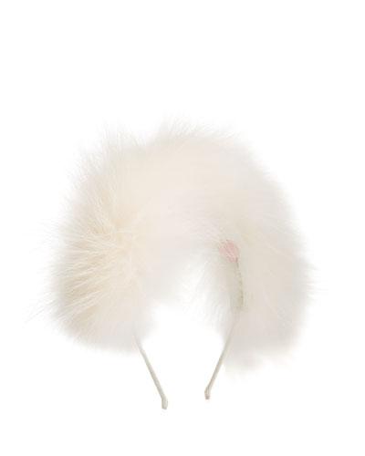 Girl's Allover Fox Fur Headband