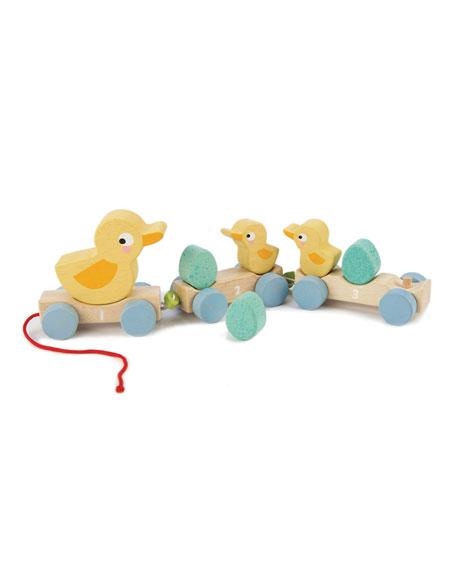 Tender Leaf Toys Pull Along Ducks Train Toy