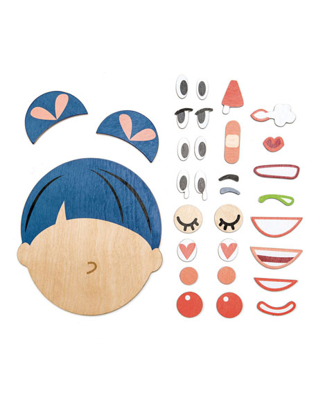 Image 1 of 3: Tender Leaf Toys What's Up Build-A-Face Play Set