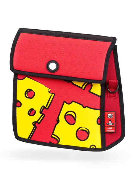 Jump from Paper Kid's Pop Art Cheese Shoulder Bag