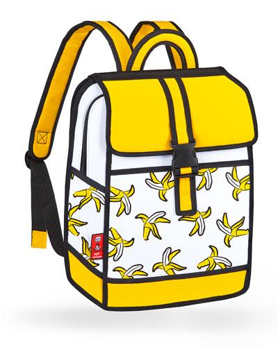 Kid's Pop Art Banana Backpack