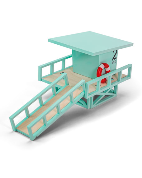 Candylab Toys Blue Beach Lifeguard Stand Toy