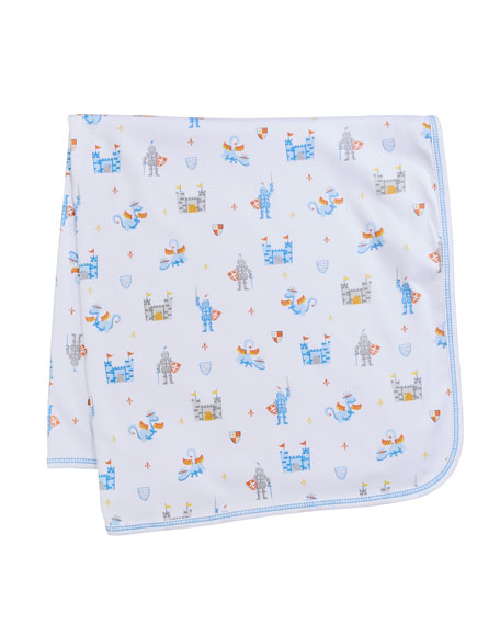 Kissy Kissy Dragon Castle Printed Baby Blanket