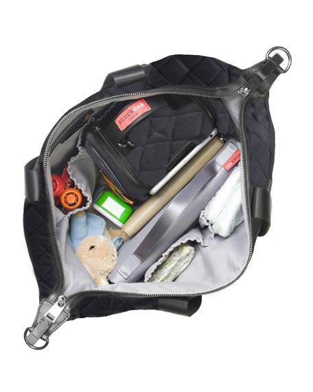 Storksak Stevie Quilted Nylon Diaper Bag