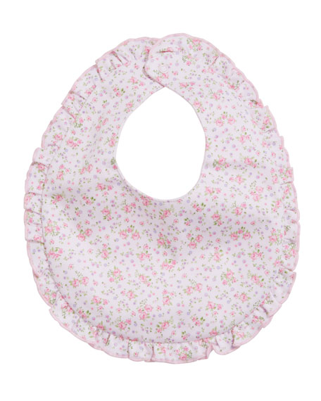 Kissy Kissy Dusty Rose Pima Ruffle Bib