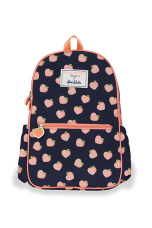 Petit Peony Kid's Peach Print Backpack