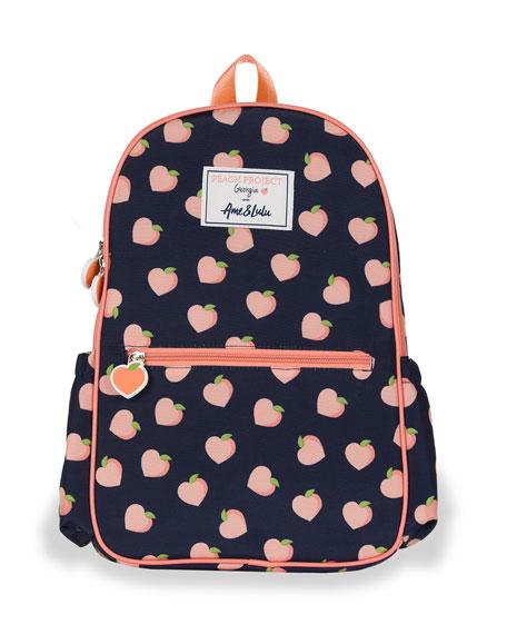 Petit Peony Kid's Peach Print Backpack
