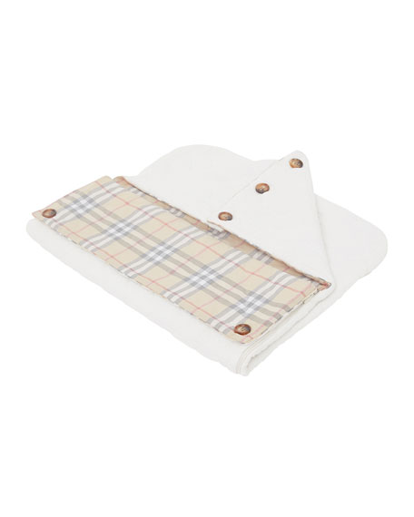 Burberry Iggy Quilted Sleep Nest w/ Check Trim