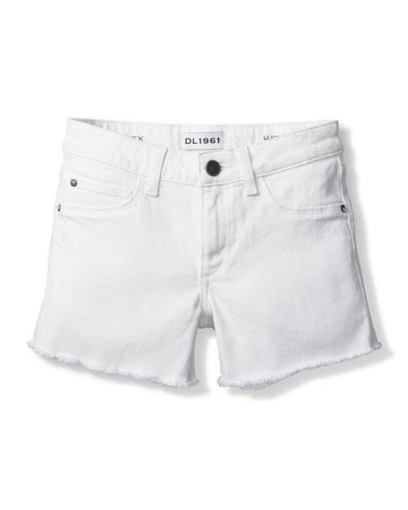 DL1961 Premium Denim Girl's Lucy Cut Off Denim Shorts, Size 7-16