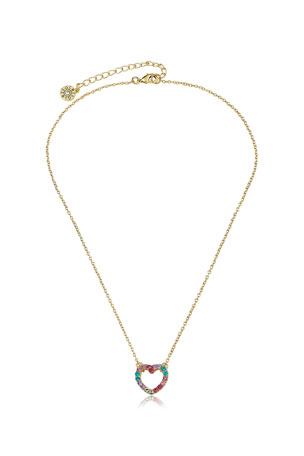 LMTS Girls' Open Heart Pendant Necklace (Hypoallergenic)