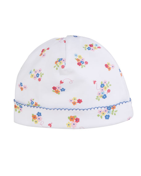 Kissy Kissy Blue Blossoms Printed Baby Hat
